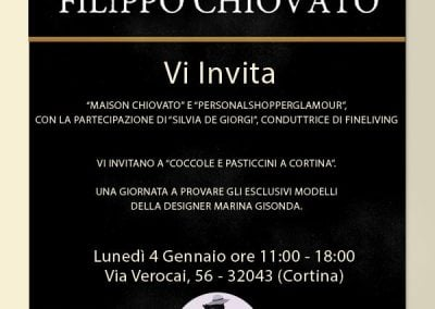 Grafica Invito per evento a Cortina