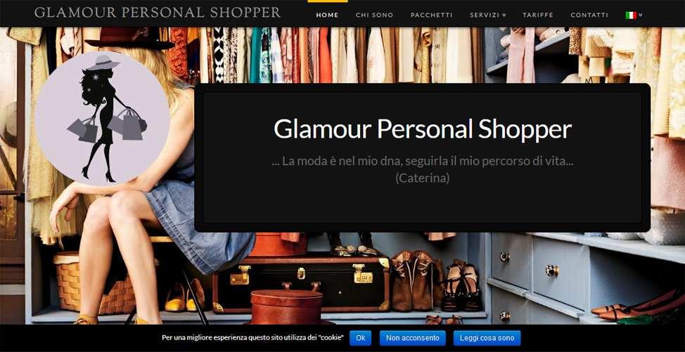 Sito per Personal Shopper