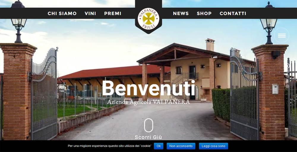 Sito per Azienda Vinicola Valpanera
